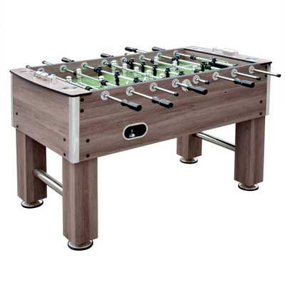 Driftwood 56 in. Foosball Table - Home Depot