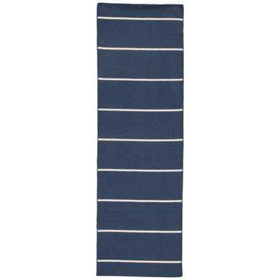 Patriot Blue 3 ft. x 8 ft. Stripe Runner Rug - Home Depot