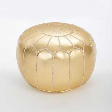 "Moroccan Pouf, Gold, 20""x14"" - West Elm"