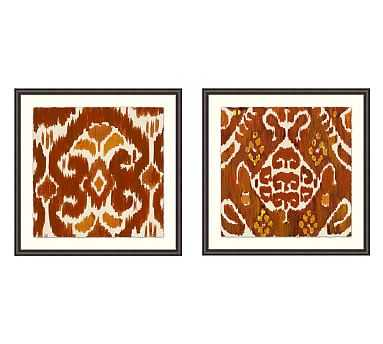 """Collector Textile Framed Prints, 29 x 29"""", Set of 2 - Pottery Barn"""