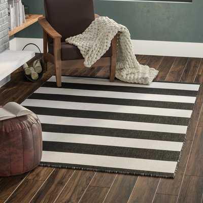 Currin Hand-Woven Black Indoor/Outdoor Area Rug - Wayfair