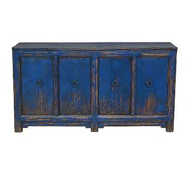 Ashworth Buffet Cabinet, Royal Blue - Pottery Barn
