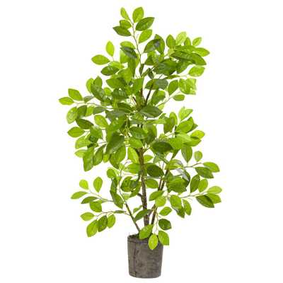 Nearly Natural 3 ft. Ficus Artificial Tree in Planter - Home Depot