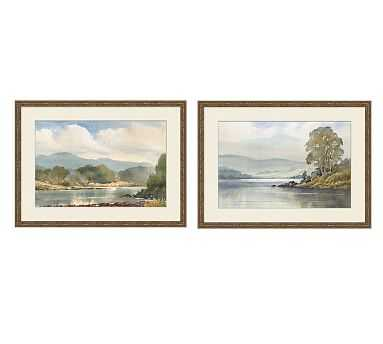 "Summer Plein Air Framed Print, Set of 2, 27 x 20"" - Pottery Barn"