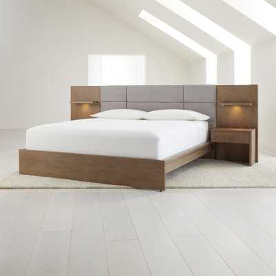 Atlas King Bed with Panel Nightstands - Crate and Barrel