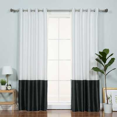 Colorblock Solid Blackout Thermal Grommet Single Curtain Panel - AllModern