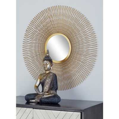 Sunburst Gold Decorative Wall Mirrors (Set of 3) - Home Depot