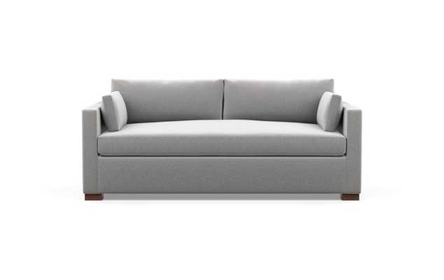 Charly Sofa with Grey Ash Fabric and Oiled Walnut legs - Interior Define
