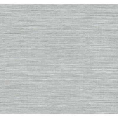 Seabrook Designs Peachtree Metallic Silver and Gold Faux Grass Wallpaper (1 Roll) - Home Depot