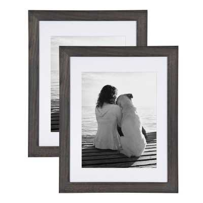 DesignOvation Museum 14x18 matted to 11x14 Gray Picture Frame Set of 2 - Home Depot