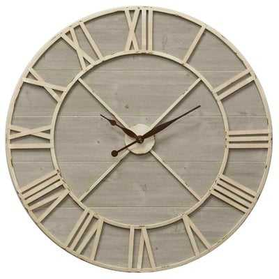 "Oversized Gonzalo Driftwood 36"" Wall Clock - Wayfair"