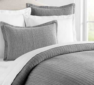 Honeycomb Duvet Cover, King/Cal. King, Gray - Pottery Barn