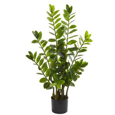 Nearly Natural Indoor 3 ft. Zamioculcas Artificial Plant - Home Depot