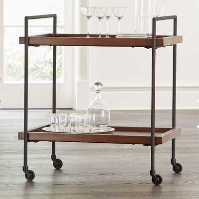 Beckett Sable Rolling Bar Cart - Crate and Barrel