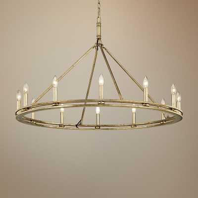 "Sutton 44"" Wide Champagne Silver Leaf 12-Light Chandelier - Style # 44Y29 - Lamps Plus"