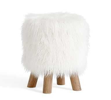 Mongolian Fur Stool - Pottery Barn