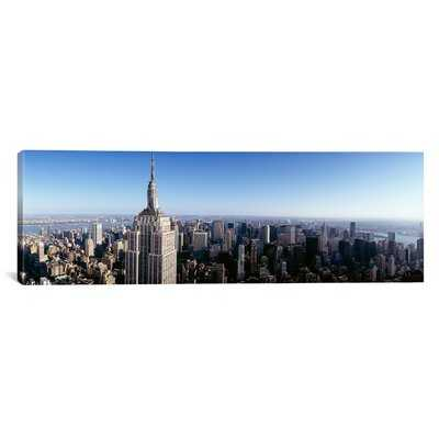 Panoramic Aerial View of a Cityscape, Empire State Building, Manhattan, New York City, New York State Photographic Print on Canvas - Wayfair