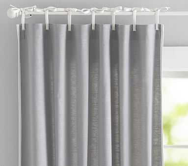 Breezy Border Non-Blackout Panel, 96 Inches, Gray - Pottery Barn Kids