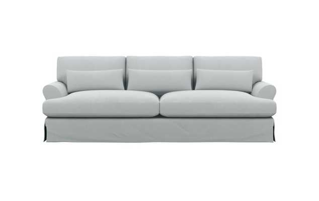 Maxwell Slipcovered Sofa with Ore Fabric and White Oak with Antique Cap legs - Interior Define