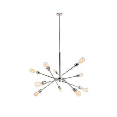 Jolie 10-Light Sputnik Chandelier, Polished Nickel - Wayfair