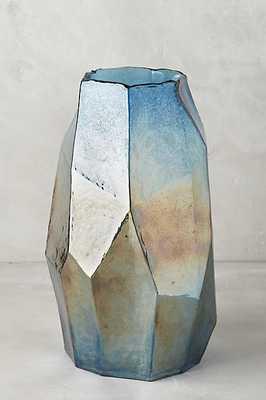 Iridescent Angles Vase - Sapphire - Anthropologie