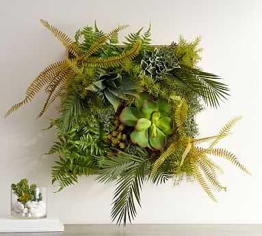 Fern Wall Art, Ferns & Succulent - Pottery Barn