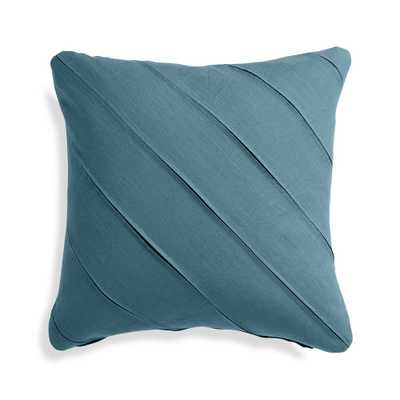 "Theta Teal Linen Pillow Cover 20"" - Crate and Barrel"