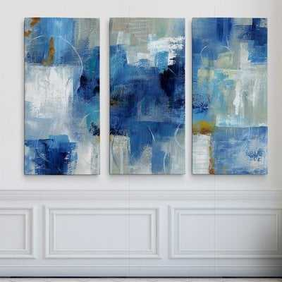 'Blue Morning' Acrylic Painting Print Multi-Piece Image on Gallery Wrapped Canvas - Wayfair
