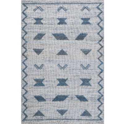 Greene Handwoven Flatweave Blue Area Rug - Wayfair