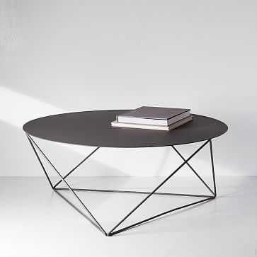 Eric Trine Octahedron Coffee Table, Matte Grey - West Elm