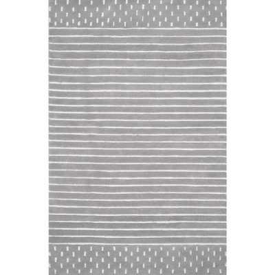 Marlowe Stripes Grey 8 ft. x 10 ft. Area Rug - Home Depot