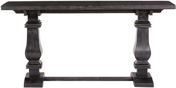 Aldridge Console Table  - Washed black - Home Depot