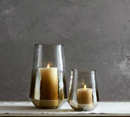 WARBLED LUSTER GLASS HURRICANE - LARGE - Pottery Barn