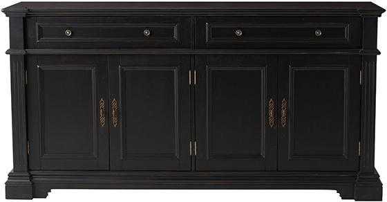 Bufford 4-Door Sideboard - Antique Black - Home Decorators
