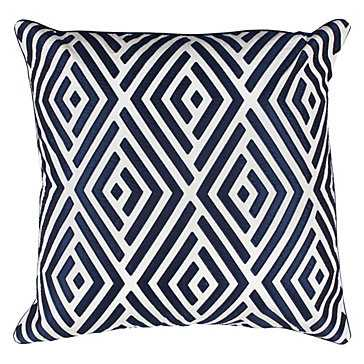 Maestro Pillow - 24''sq., Sapphire,  Feather/Down insert - Z Gallerie