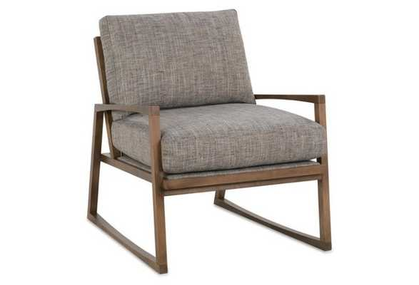 Markus Accent Chair, Heathered Slate - One Kings Lane