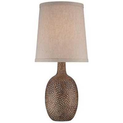 Chalane Hammered Antique Bronze Table Lamp - Lamps Plus