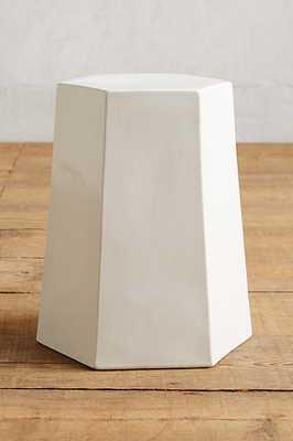 Calo Side Table, Hexagon seat - White - Anthropologie