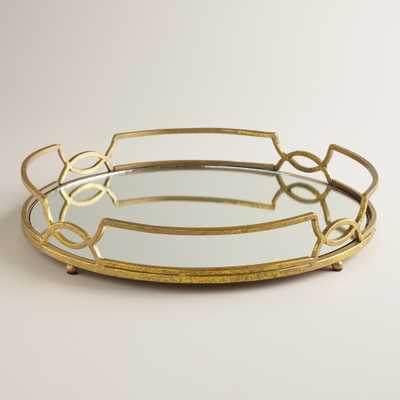 Gold Mirrored Tabletop Tray - World Market/Cost Plus