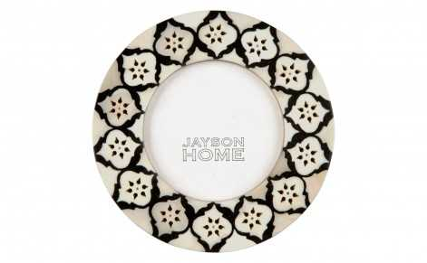 "BONE BLACK ROUND FRAME - 6"" DIAMETER - Jayson Home"
