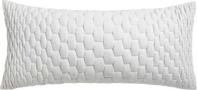 "Mason quilted ombre 36""x16"" pillow with down-alternative insert - CB2"