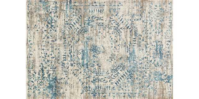 "KT-05 Ivory / Blue Rug - 9'3""x13' - Loma Threads"