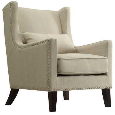 Jeannette Wingback Arm Chair - Beige - Wayfair