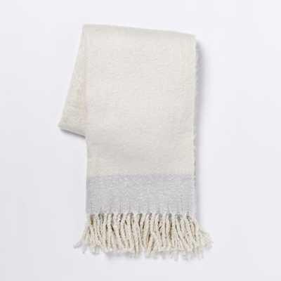 Cozy Texture Throw - Ivory - West Elm