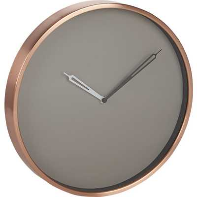 Copper wall clock - CB2