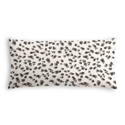 Leopard print lumbar pillow, Black/white - 12x24, Down Insert - Loom Decor