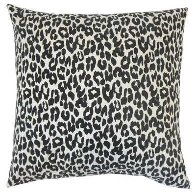 "Olesia Animal Print Pillow Black - 18"" x 18"" - Polyester Insert - Linen & Seam"