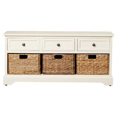 Layla Storage Bench - Ivory - Wayfair