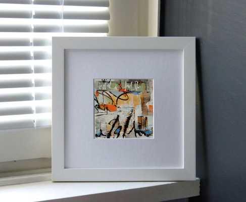 Fine art modern - 4 x 4 inches - white laminated cardboard - Etsy