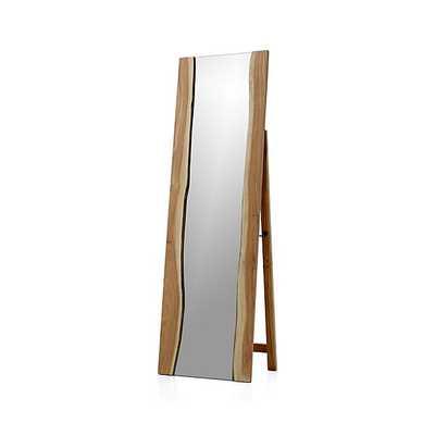 Live Edge Floor Mirror - Crate and Barrel